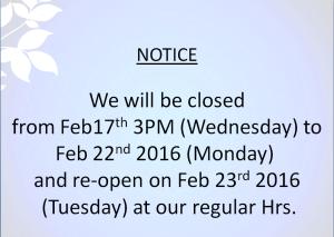 florida vacation notice